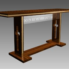 Words don't work, but contemporary style might. Iglesias, Altars, Communion, Contemporary Style, Entryway Tables, Religion, Commercial, Wood, Building