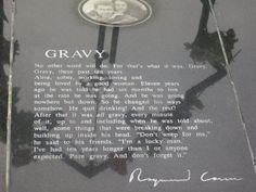 "Raymond Carver gravesite inscribed with his poem, ""Gravy"" in Port Angeles, Washington. #travel"