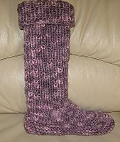 Ravelry: Knee High Boot Slipper pattern by KayL Designs