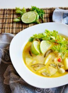 Pikantná tom kha gai polievka Tofu, Paleo, Ethnic Recipes, Paleo Food
