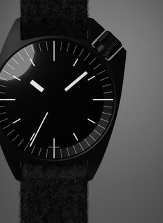 Watches // modern stainless steel wrist watch designed by Thomas Feichtner - concept