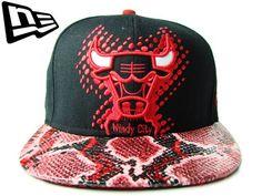 """【ニューエラ】【NEW ERA】SNAPBACK CHICAGO BULLS スネーク柄 """"BIG BULL"""" ブラックXレッド【スナップバック】【シカゴ・ブルズ】【ジョーダン】【NBA】【RED】【バスケ】【アジャスター】【黒】【black】【ヘビ柄】【ヒョウ柄】【9fifty】【あす楽】【楽天市場】"""