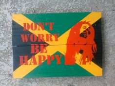 Sign Rustic Bob Marley Rasta Sign wall decor by UpcycleMiami, $45.00