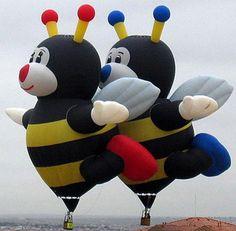 bee hot air balloons :)
