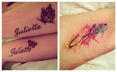 Letra cursiva para tatuajes de nombres