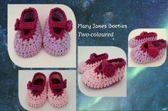 Mary Janes Booties (Two-coloured)