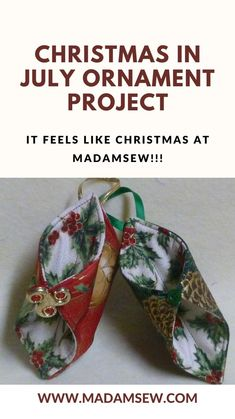 Sewing Blogs, Sewing Tutorials, Diy Christmas Ornaments, Christmas Decorations, Christmas In July, Easy Projects, Quilts, Crafts, Stitch
