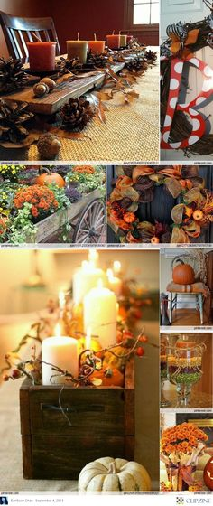 Fall Decorating Ideas, I will have to hit up some garage sales, thrift stores, and craft fairs.