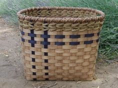 Laundry doesn't have to be all dreary. Handwoven rattan reed basket. Made in Walla Walla, Washington. $85