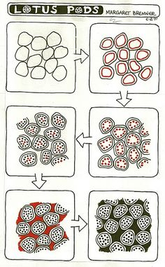 LOTUS PODS tangle instructions