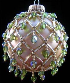 Beaded Christmas Ornament 10