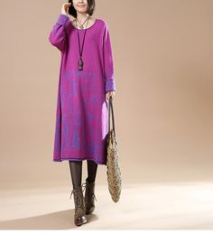 Casual Cotton Knitting Sweater Dress