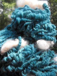 Handspun yarn Sheep in the Meadow Ships FREE by pamsfiber on Etsy, $38.00