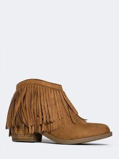 Marrow Fringe Ankle Boot - ZOOSHOO