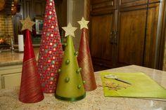 déco Noël à faire soi-même petit sapin carton