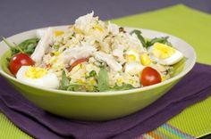 Salade de riz au maïs et poulet