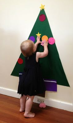 Felt Christmas Tree Tutorial, toddler, craft activities