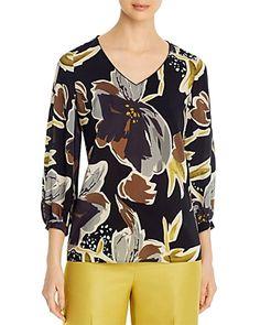 $548.0. LAFAYETTE 148 Top Arnette Silk Floral-Print Blouse #lafayette148 #top #blouse #silk #c Lafayette 148, Blouse Online, Printed Blouse, Black Blouse, Striped Dress, Blouses For Women, Printer, Floral Prints, New York