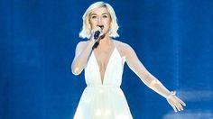 Rysslands Polina Gagarina tävlar i semifinal 1 av Eurovision Song Contest 2015. Andres Putting/EBU