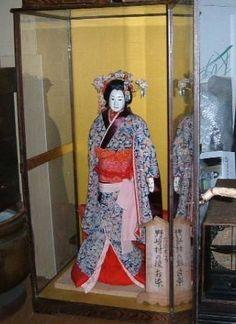 Japanese Puppets Bunraku | Japanese BUNRAKU theatre JORURI Puppet Ichimatsu Geisha Karakuri Gofun ...
