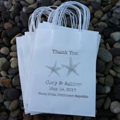 Custom Designed Wedding Welcome Bags, Thank You Bags or Favor Bags designed by wright4design on ETSY.com or http://www.etsy.com/people/wright4design $3.25 per bag