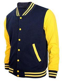 BCPOLO Men's Letterman Baseball Jacket Sweatshirt warm Baseball ...