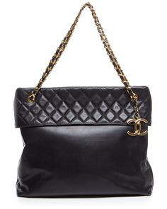 Chanel Black Quilted Lambskin XL Shopper Tote is on Rue. Shop it now.