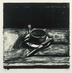 Richard Diebenkorn (American, 1922-1993), Cup and Saucer, 1965. Lithograph on Rives wove paper, 11 1/8 x 11 1/8 in. Numbered 15/50.