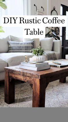 Diy Home Furniture, Furniture Projects, Cool Furniture, Diy Home Decor, Rustic Coffee Tables, Diy Coffee Table Plans, Reclaimed Wood Coffee Table, Decorating Coffee Tables, Diy End Tables