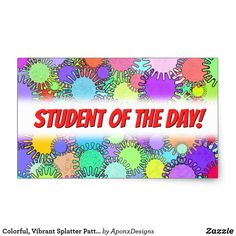 Shop Colorful, Vibrant Splatter Pattern Sticker created by AponxDesigns. Beach Mat, Encouragement, Vibrant, Outdoor Blanket, Student, Inspirational, Colorful, Messages, Stickers