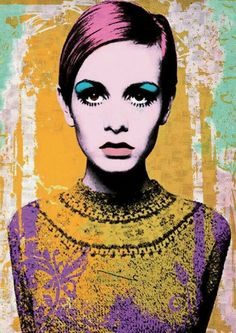 Twiggy portrait by Andy Warhol Andy Warhol Pop Art, Andy Warhol Portraits, Pop Art Poster, James Rosenquist, Muster Tattoos, Roy Lichtenstein, Arte Popular, Art Moderne, Art Plastique
