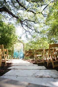 Wedding Ceremony Ideas: Macrame Backdrop! Cream and blue macrame backdrop for ceremony decoration at @Sanctuary Yoga. Rentals by Birch & Brass in Austin, TX. Photography by @Dustin Finkelstein.