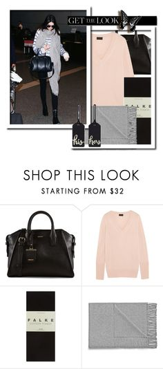 """""""AIRPORT at southern hemisphere"""" by fatal-poison-4-u ❤ liked on Polyvore featuring DKNY, J.Crew, Falke, Acne Studios, White Label, Kate Spade, GetTheLook and airportstyle"""
