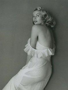 Anita Ekberg ORIGINAL RARE VINTAGE NUDE 1955 ANDRE DE DIENES PHOTO Dec2204