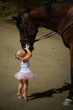La ballerine et le cheval.