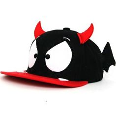 CUTE DEVIL Snapback Hats Hip Hop Unisex Ball Adjustable Caps D-DEVIL Black/Red