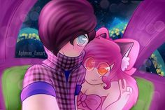 Zane~Chan is going so well and I'm so happy for the both of them! Had to draw them taking a selfie - deerosaliee Zane And Kawaii Chan, Zane Chan, Aphmau Pictures, Aphmau Youtube, Aarmau Fanart, Aphmau Memes, Jaiden Animations, Minecraft Characters, Vanellope Von Schweetz