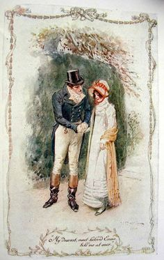 C.E. Brock illustration from a 1909 edition of 'Emma' by Jane Austen.  Only my favorite book