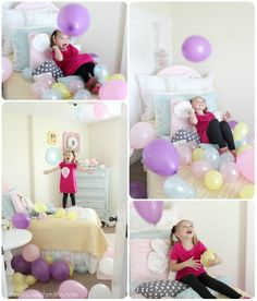 Balloon Surprise on Birthday ... cute tradition
