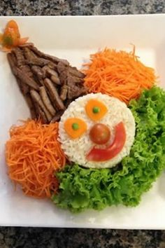 Creative Christmas Food, Creative Food Art, Food Art For Kids, Fun Snacks For Kids, Cute Food, Good Food, Finger Foods For Kids, Healthy Breakfast For Kids, Food Carving