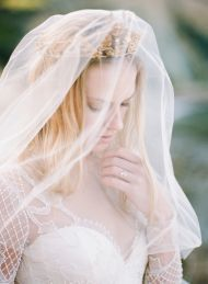 Old World Glamour Wedding Inspiration - Style Me Pretty #veil #weddingdress  Mode Bridal is a #luxury #bridal #boutique where #style loving #brides will find #quality and impeccable service in everything we do. www.modebridal.co.uk