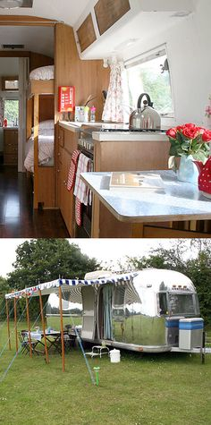 Happy Days Retro Vacations | England, UK #retro #airstream #glamping