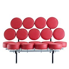 Othello Sofa EEI-140-RED by LexMod