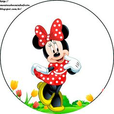 LARGE SET-- Montando a minha festa: Minnie Vermelha