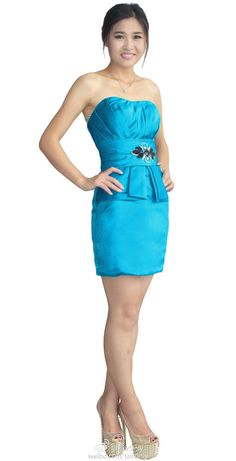 FairOnly New Blue Cocktail Evening Formal Short Dress Stock Size 6 8 10 12 14 16