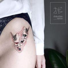 Japanese sleeve tattoos ideas japanesetattoos sun steel plus Irezumi Tattoos, Hannya Tattoo, Leg Tattoos, Body Art Tattoos, Hanya Mask Tattoo, Tattoo Arm, Small Japanese Tattoo, Japanese Tattoo Meanings, Traditional Japanese Tattoos