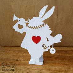 white rabbit decoration Alice in Wonderland themed wedding/ party Handmade By Rae Henry Designs.