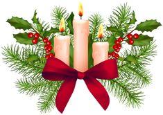 Christmas Candles Transparent PNG Clip Art