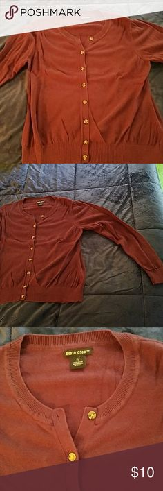 Long sleeve shirt Button down, light sweater material. Worn once. rosie glow Tops