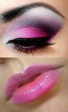 Pink Psychobilly makeup